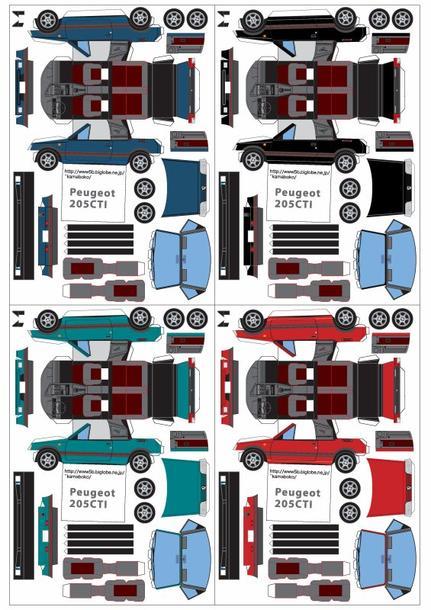 Peugeot 205 cabriolet et 206 maquettes