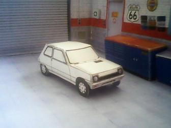 Renault 5 / Le Car maquette résultat (by me)