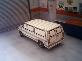 Ford Econoline 1983 maquette résultat (by me)