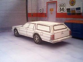 Chevrolet Caprice Wagon 1980 maquette résultat (by me)