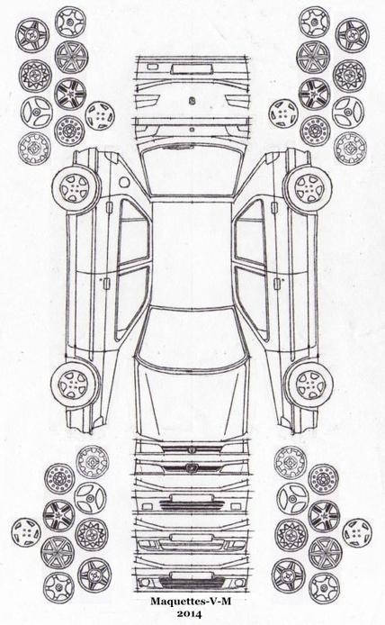 Peugeot 306, 5 portes maquette (by me)