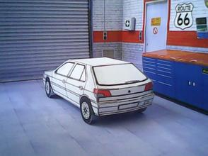 Peugeot 306 1993 maquette résultat (by me)