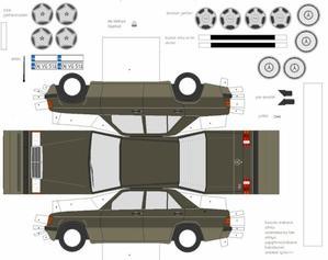 Mercedes-Benz W201 maquettes