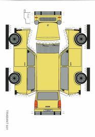 VEB Sachsenring Automobilwerk Zwickau (AWZ) Trabant 601 maquettes / paper models