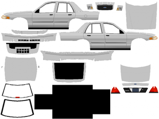 Ford Crown Victoria maquettes
