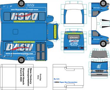 Ford Econoline 1992 maquette