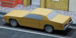 Plymouth Fury maquettes / paper models