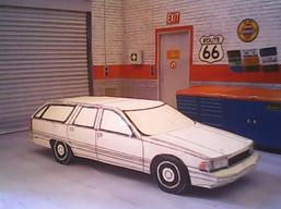 Buick Roadmaster Estate 1991 maquette résultat (by me)