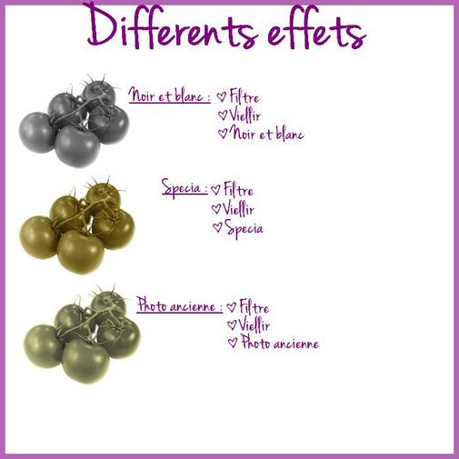 ♥ Differents effets ♥