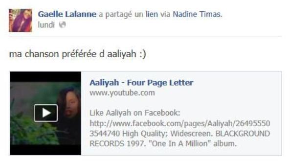 Gaelle fan d'Aaliyah