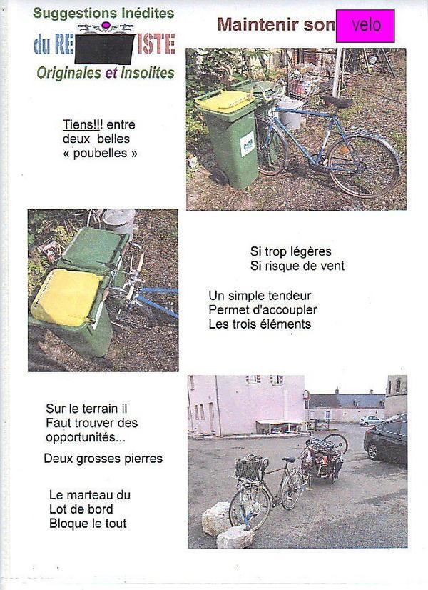 tenir la bicyclette