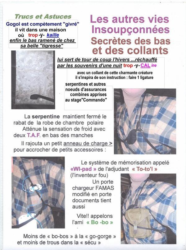 protégeons nous : recyclage de chaussettes ,bas et collants...( tribulations de totol et gogol)