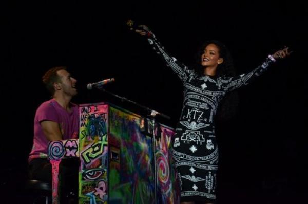 Rihanna et Coldaplay au Stade De France
