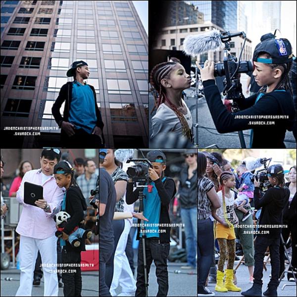 . ♦ 22/01/11 : Jaden s'est rendu à Los Angeles pour accompagné sa soeur Willow pour le tournage de son clip 21st Century Girl il y avait aussi , Jackie Chan... .