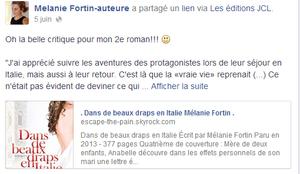 . Dans de beaux draps en Italie  Mélanie Fortin .