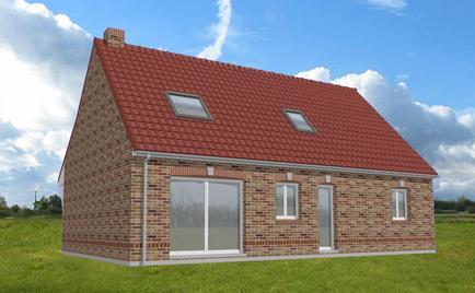 Visu de la maison par le dessinateur (façade arrière)