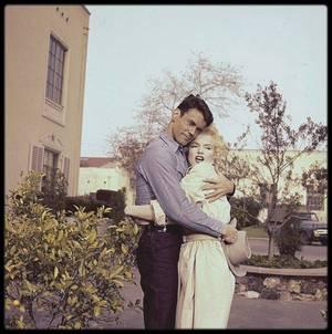 """1956 / Marilyn et Don MURRAY lors du tournage de """"Bus stop"""". (photos Gene LESTER et Milton GREENE)."""