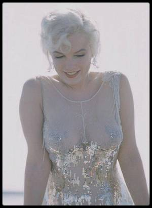 "1958 / Marilyn lors du tournage du film ""Some like it hot"", photos Richard C MILLER."