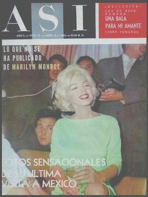 """22 Février 1962-3 Mars 1962 / (Part II) Marilyn en visite à Mexico : Lors de son séjour, Marilyn visita également Cuernavaca où elle se rendit chez l'actrice Merle OBERON et chez la jet-setteuse new-yorkaise Barbara HUTTON. Elle visita la """"Byrna Art Gallery"""" où elle acheta 3 peintures. Elle fut  invitée à une soirée donnée en son honneur chez l'acteur, écrivain et réalisateur Emilio FERNANDEZ ROMO : celui-ci lui apprit à boire la téquila avec du sel et du citron. La musique fut jouée par des mariachis. Ce soir-là elle rencontra le scénariste mexicain José BOLANOS ; il deviendra son chevalier servant et l'accompagna aux quelques soirées données en son honneur au cours de la tournée au Mexique. Durant son séjour elle acheta :  une table basse en bois, 4 bancs en bois, une chaise en bois et cuir faite main, un coffre à charnières en cuivre et argent, des miroirs, des chaises, des maracas, des jetés de  lit, poteries, paniers, un chapeau de paille, un saladier ovale en cuivre, des colombes décoratives en argile et peintes à la main, des plats en verre bleu transparents, des verres à soda, 4 tentures murales de musiciens mexicains. Elle acheta aussi des carreaux décoratifs peints à la main : bleu, vert et doré pour sa cuisine ; à fleurs orange et or pour la salle de bains principale. Egalement une peinture d'une femme nue """"Olga"""", un échiquier en bois de rose, argent et doré, un tapis en laine, une tapisserie murale """"Chac-Mool"""", des fauteuils de salon sculptés main, un grand canapé rouge vif (qui n'arrivera que fin août), des chandeliers en cuivre achetés chez le fameux orfèvre William SPRATLING à Taxco ; une large armoire mexicaine. Dans un autre registre, elle obtient facilement des comprimés de Nembutal.  Pourtant, durant son séjour au Mexique, elle dormit  sans tranquillisants, ce qui ne lui était pas arrivé depuis une quinzaine d'années. Le jeudi 22 février :  elle annula sa visite à Acapulco et resta à Mexico pour faire du shopping. MARS :  Le jeudi 1er mars : elle """