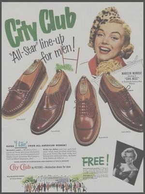 MARILYN ET LA PUBLICITE (Compagnie aérienne, chaussures, shampoing, fond de teint, rouge à lèvres, crème ou encore albums photos).