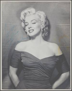 1952 / RARE / Autographes de Marilyn sur des photos studios de Frank POWOLNY.