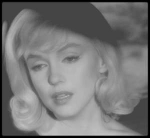 """1960 / Mes captures d'écran (pour mon amie Simona) de Marilyn dans une des scènes du film """"The misfits""""."""