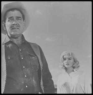 """1960 / LES NEWS du tournage du film """"The misfits""""."""
