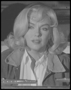 """1960 / Marilyn, GABLE et Monty sur le tournage du film """"The misfits"""", scène finale. (article dédié à mon amie Simona)."""
