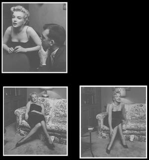 """3 Mars 1956 / NEWS / Photos Earl LEAF, Marilyn lors d'une """"press party"""" pour le tournage du film """"Bus stop"""", dans la maison de North Beverly Glen Boulevard..."""