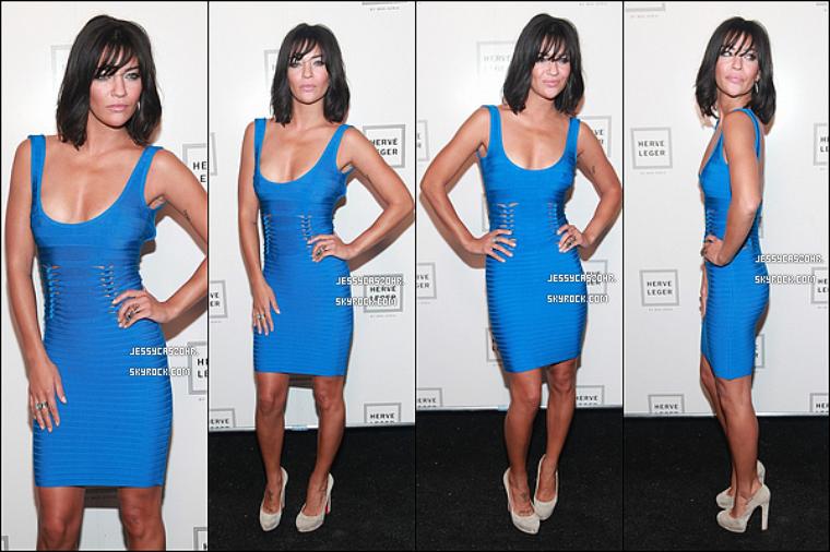 *13/09/2011 - Jessica a assisté au défilé de mode de Max Azria qui ce tenait à New York pour la Fashion Week. *