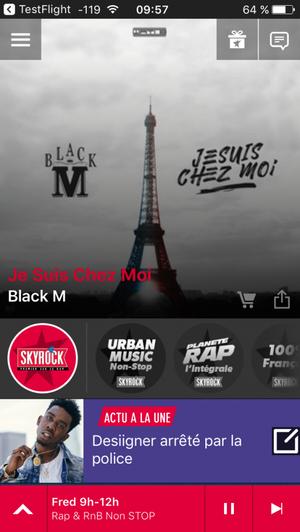 Nouvelle version de l'appli radio Skyrock FM !