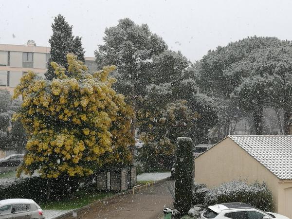 La neige hier