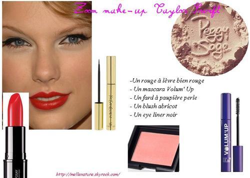 Zoom make up de la semaine: Taylor Swift