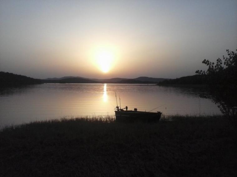 Coucher de soleil lac Montbel 26/07/12