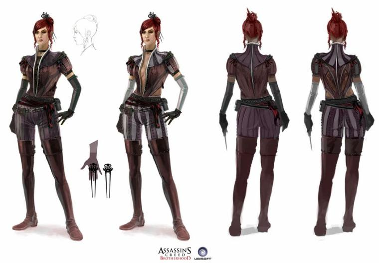 Assassin's Creed Brotherhood : La Dame Rouge Artwork