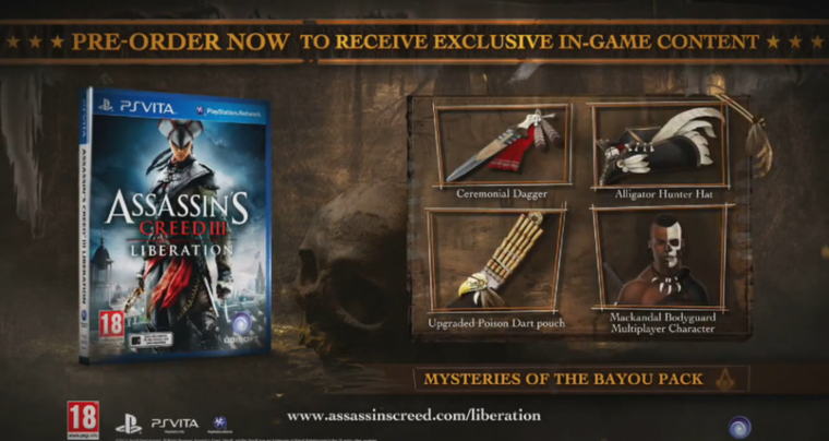 Assassin's Creed 3 Liberation - Bonus de Précommande