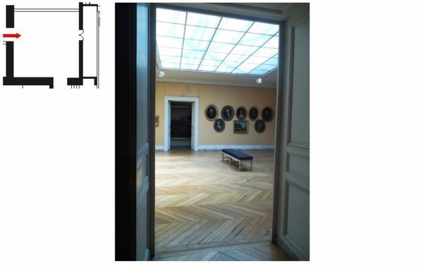 Attique aile centrale - Attique Chimay - A13 Salle du serment de jeu de paume