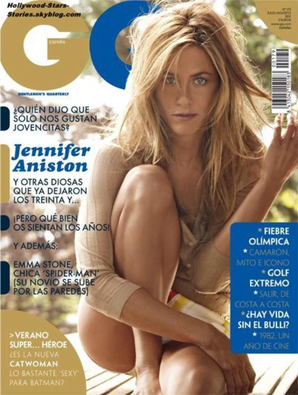 Jennifer Aniston en couverture du magazine masculin GQ Spain.