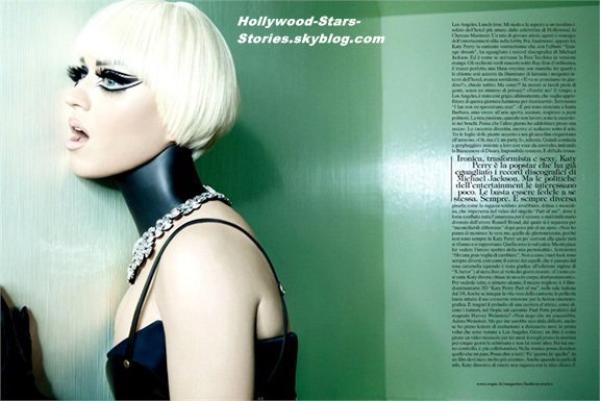 Katy Perry est tout juste méconnaissable dans son photoshoot pour le magazine Vogue Italia.