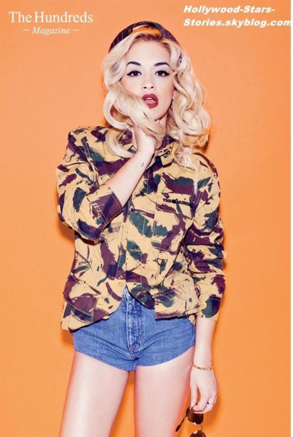 Le photoshoot de Rita Ora pour Hundreds Magazine.