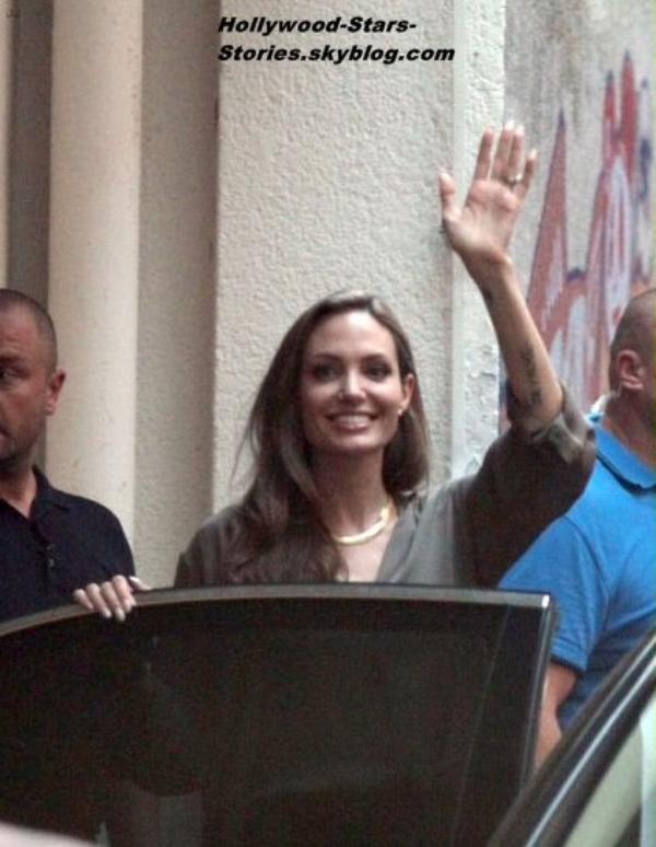 Angelina Jolie se rendant au 18éme Sarajevo Film Festival en Bosnie-Herzégovine. Samedi, 07 juillet