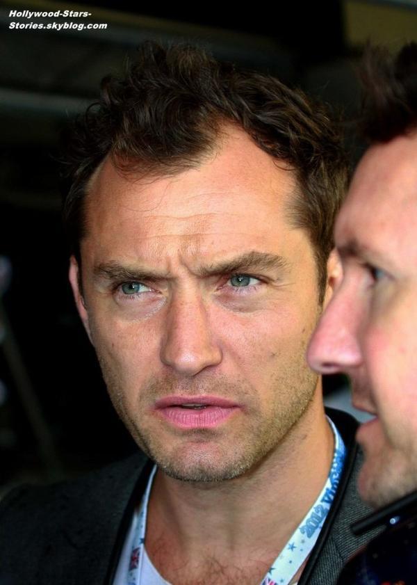 Jude Law au 2012 British Grand Prix, au garage Red Bull, à Silvetstone en Angleterre. Samedi, 07 juillet