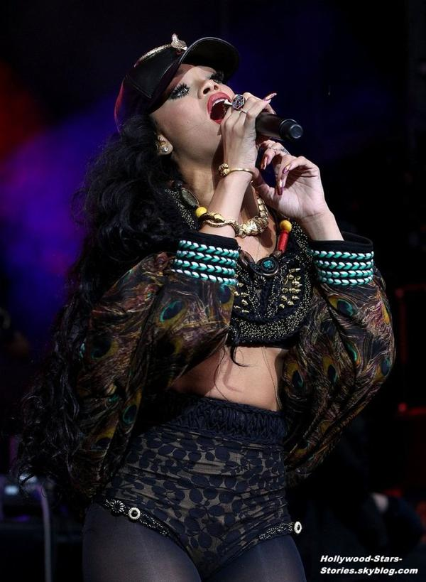 La performance de Rihanna au Barclaycard Wireless Festival à Londres, en Angleterre. Dimanche, 08 juillet