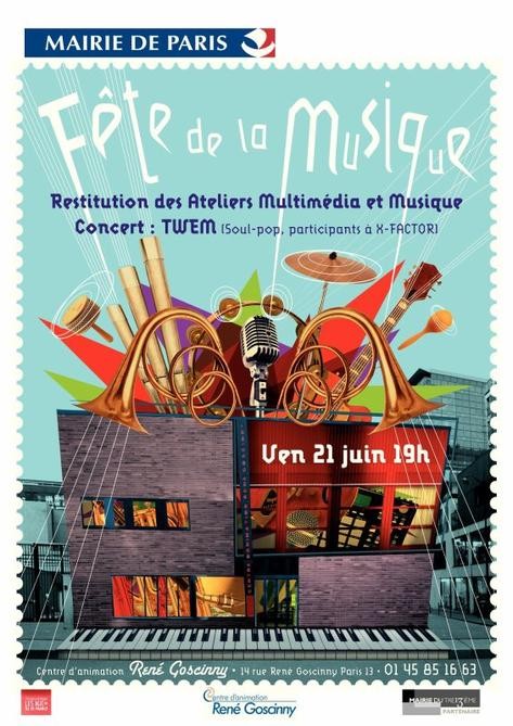 Fête de la musique le 21 juin 2013 à 21h au Centre GOSCINNY !