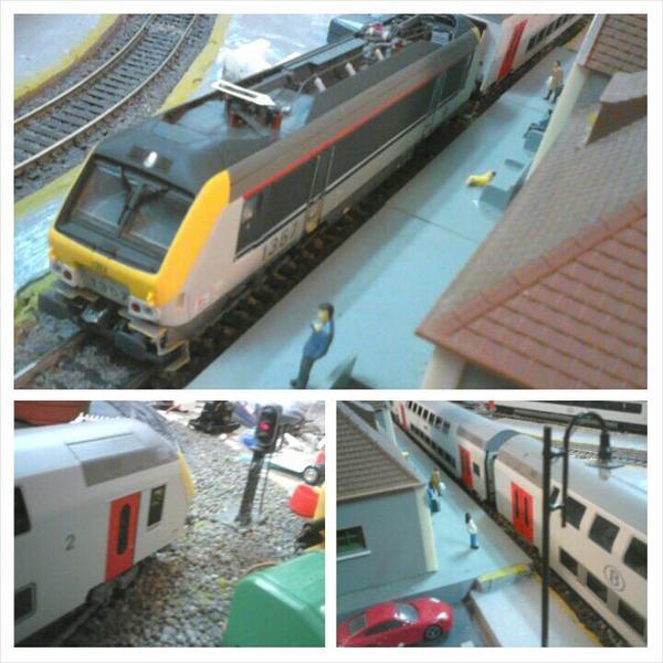 """Notre loco électrique """"Ls models"""" série 13 et diverses voitures M6"""