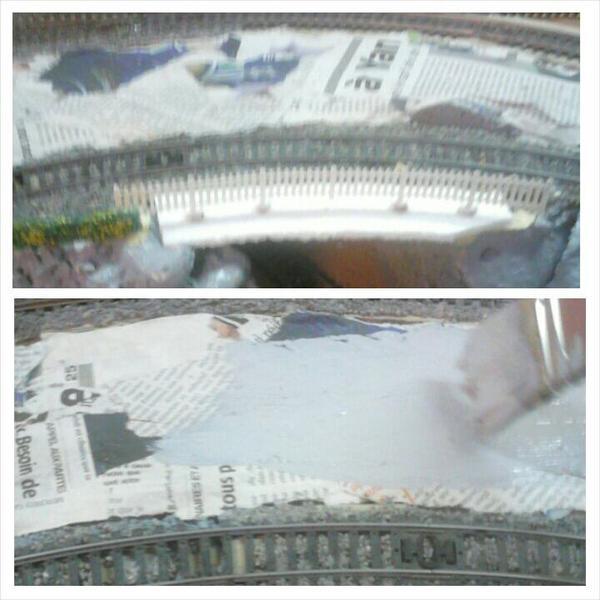 Peinturons le relief en gris avant d'apporter quelques modifications (1)