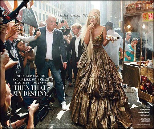 Lady Gaga sera en couverture de l'édition de Janvier du magazine Vanity Fair qui sortira le 6 décembre.