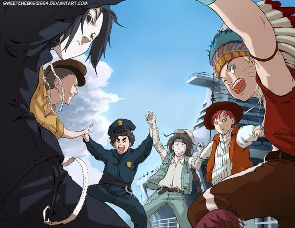 sasuke lee neji gaara et naruto