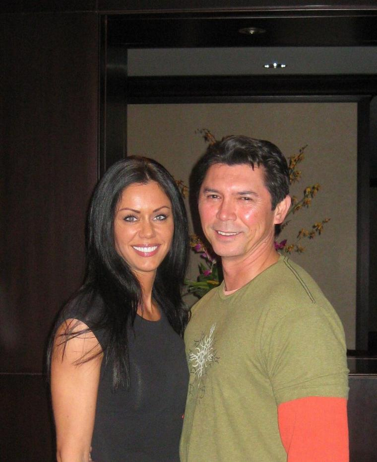 Caroline et Lou Diamond Phillips ( La Bamba )