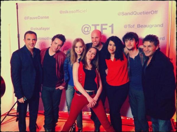 La troupe à la grande soirée de TF1 !